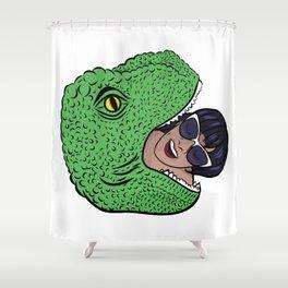 Dinosourprise Shower Curtain