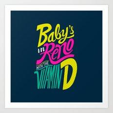 Baby's in Reno Art Print