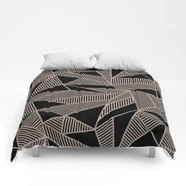Geometric Abstract Origami Inspired Pattern Comforters