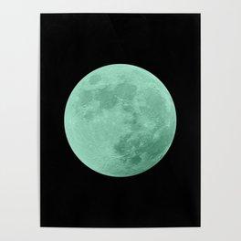 TEAL MOON // BLACK SKY Poster