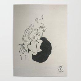 Smokey kiss Poster