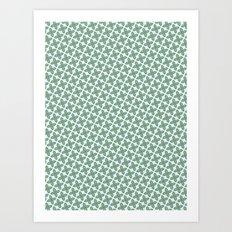 Mint Leaf Pattern Art Print