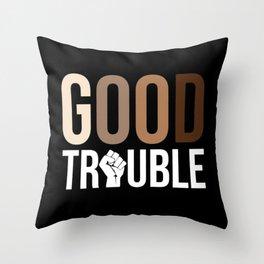 John Lewis, Good Trouble Throw Pillow