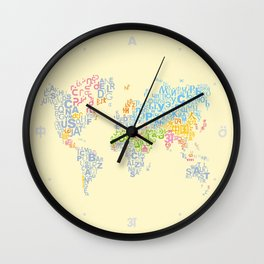 We Are All Writers Wall Clock