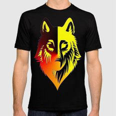The Solar Wolf Mens Fitted Tee Black X-LARGE