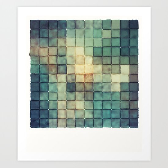 Polaroid Pixels III (Chain) Art Print