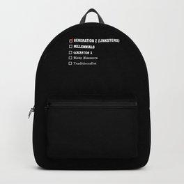 Gebnration Z Millenials Generation X Boomer Gift Backpack