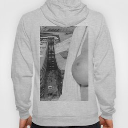 Enjoying the views. Nude woman over the city of London Hoody