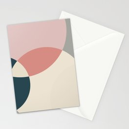 Earth tones overlapping geometric shapes Stationery Cards