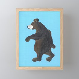 Bear Walk Framed Mini Art Print