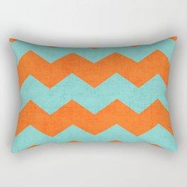 chevron - teal and orange Rectangular Pillow
