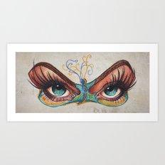 Butterflies eyes Art Print