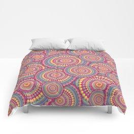 Pink Mandala Hippie Pattern Comforters
