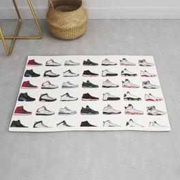 Air Jordan Series Collection 1-14 Rug