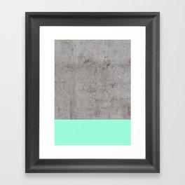 Sea on Concrete Framed Art Print