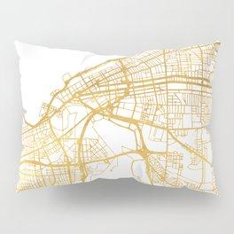 CLEVELAND OHIO CITY STREET MAP ART Pillow Sham