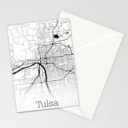 Map of the City Neck Gaiter Tulsa Oklahoma Map Neck Gator Stationery Cards
