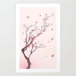 Oriental cherry blossom in spring 003 Art Print