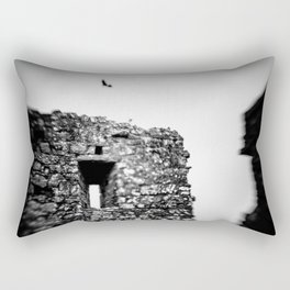 Crow at the Abbey Rectangular Pillow