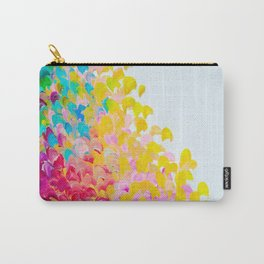 CREATION IN COLOR - Vibrant Bright Bold Colorful Abstract Painting Cheerful Fun Ocean Autumn Waves Carry-All Pouch