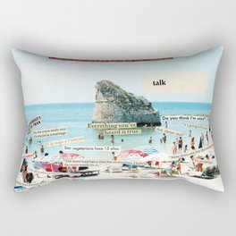 Life is too short for dull vacations Rectangular Pillow