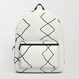 Moroccan Diamond Stripe in Black and White Backpack