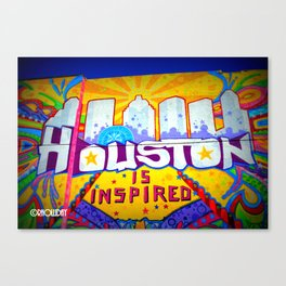 Houston is Inspired Canvas Print