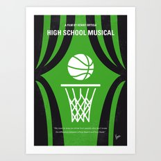 No633 My High School Musical minimal movie poster Art Print