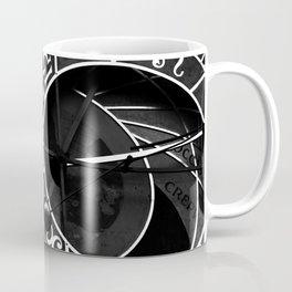 Astronomical clock of Prague, black and white travel photography Coffee Mug