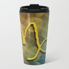 Flower of Life CAPRICORN Astrology Design Metal Travel Mug