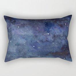 Night Sky Stars Galaxy | Watercolor Nebula Rectangular Pillow