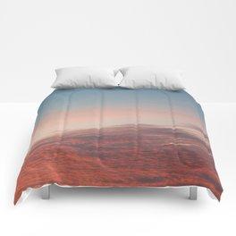 Dappled Peach Skies Comforters