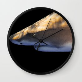 Lemon Shark Backdrop Wall Clock