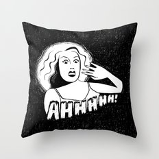 Classic horror movie scream Throw Pillow