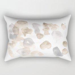 180630 Black Brown Neutral Grey Abstract Watercolour 3   Watercolor Brush Strokes Rectangular Pillow