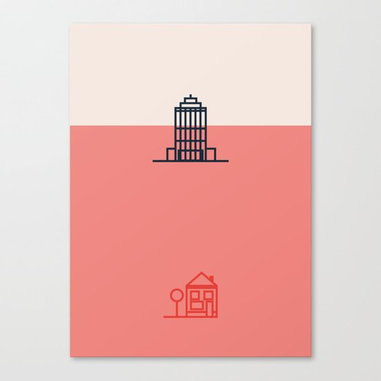 City to Village Canvas Print