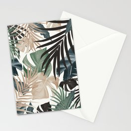Tropical Jungle Leaves Pattern #13 (Fall Colors) #tropical #decor #art #society6 Stationery Cards