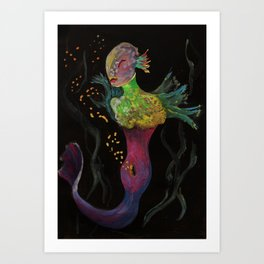 Birth of Mermaids Art Print