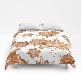 Gingerbread Cookie Blizzard Comforters
