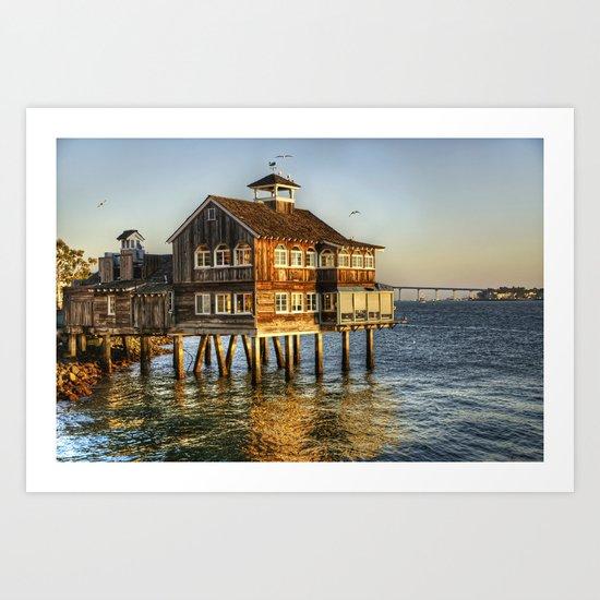 Ocean House Art Print