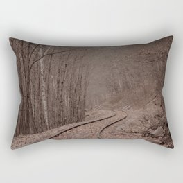 Eerie Train Tracks (Color) Rectangular Pillow