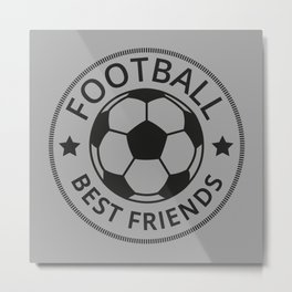 Football Best Friends I Metal Print
