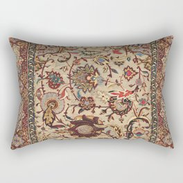 Safavid Silk Metal-Thread Persian Rug Print Rectangular Pillow