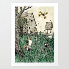 'Overgrown' Art Print