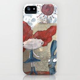 Jennu with Rabbit iPhone Case