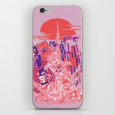 Smash! Zap!! Zooom!! - Big-Boobed Babe iPhone & iPod Skin