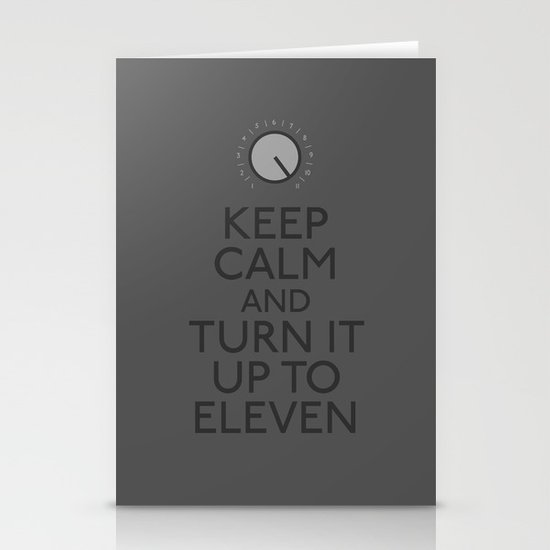 Turn it up to eleven Stationery Cards
