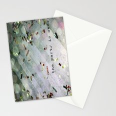 The Party Is Over Stationery Cards