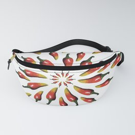Red Peppers Mandala Art Fanny Pack