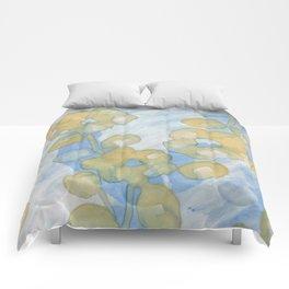 Transparent Flower 50s Comforters